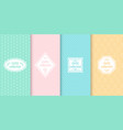 set of cute pastel seamless patterns with frames vector image
