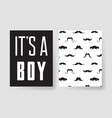 set of templates for boys birthday cards hand vector image