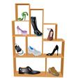 shoe store vector image