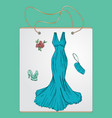 shopping bag gift bag with the image of vector image