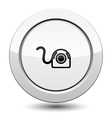 Button with Web Camera Icon vector image vector image