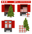 Christmas Delivery Set 2 vector image