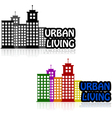 Urban living vector image vector image