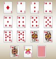 Diamonds Playing Cards Set vector image vector image