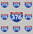 INTERSTATE SIGNS vector image