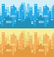 City Skyscraper Silhouette Background vector image