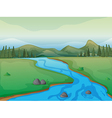 Flowing river vector image