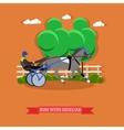 Harness horse racing design vector image