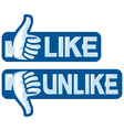 Like Unlike Sign vector image