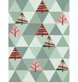 retro pattern of geometric shapes with trees vector image