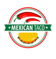 taco logo icon isolated on white traditional vector image