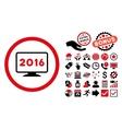 2016 Display Flat Icon with Bonus vector image