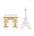 Eiffel tower vector image