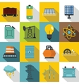 Energy sources items icons set flat style vector image