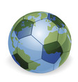 world globe soccer ball concept vector image