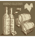 wine background vector image vector image