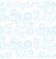 Seamless snowflake pattern for christmas vector image