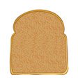 slice of wholemeal toast with space for text vector image vector image