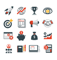 startup business icon flat design vector image vector image