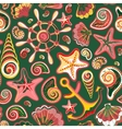 seamless pattern with ocean vector image
