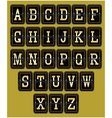 alphabet in retro style on background for web desi vector image