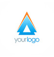 arrow up triangle logo vector image