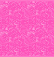 bright pink seamless pattern with cats and sweets vector image