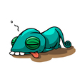 Cartoon Tired Chameleon vector image