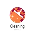 Cleaning service logo symbol vector image