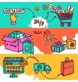 E-commerce Banner Set vector image