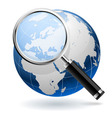 Global search concept isolated on white background vector image