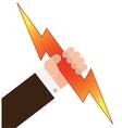 grab lightning vector image