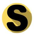 letter s sign design template element vector image