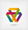 Mobius strip multi-color symbol vector image