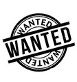 wanted rubber stamp vector image