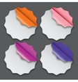 Paper labels with different corner and place for vector image vector image