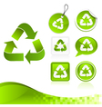 Green Recycling Design Kit vector image