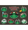 Halloween green toads fashion costume outfits vector image