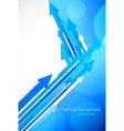 Blue background with arrows vector image vector image