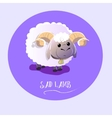 sad lamb on isolated background vector image vector image