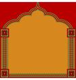 Indian pattern frame vector image vector image