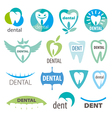 biggest collection of logos dentistry vector image