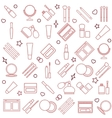 Womens cosmetic Silhouette Seamless pattern vector image vector image