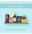 Package design in flat style vector image