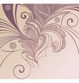 handdrawn floral vector image