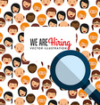 hiring workers design vector image