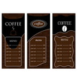 Coffee templates 2 vector image