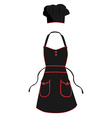 Cook apron and hat vector image