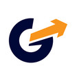 g letter arrow logo vector image