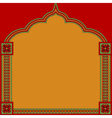 Indian pattern frame vector image